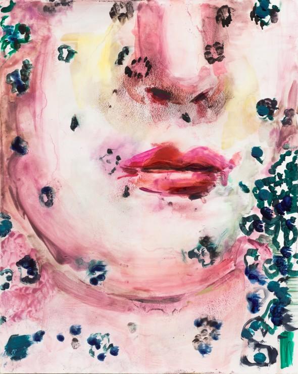 Pink, oil on wood, 30x24, 2019