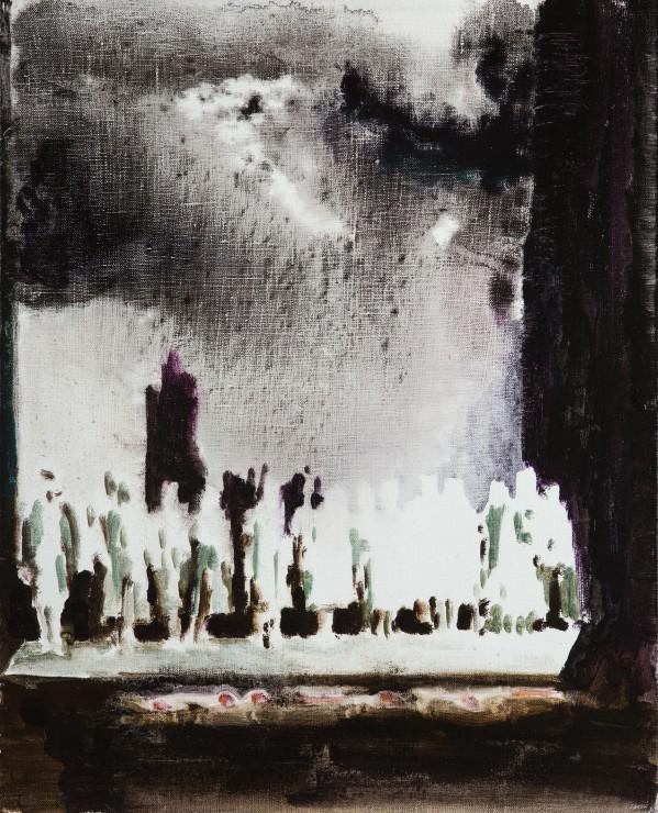Scene, oil on canvas, 50x40, 2017