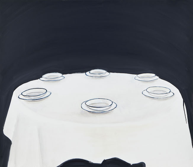 Empty plates, oil on canvas, 110x95, 2013