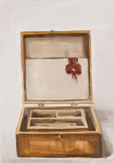 Fluxus box, oil on canvas, 90x60, 2013