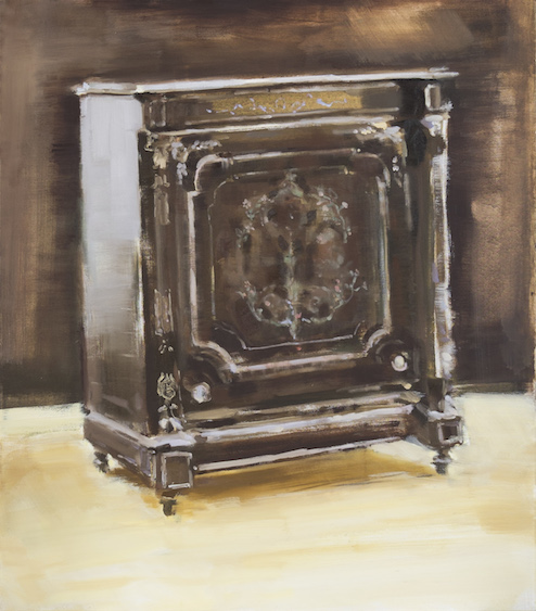The copy of antique Napoleon III cabinet, oil on canvas, 80x70, 2015