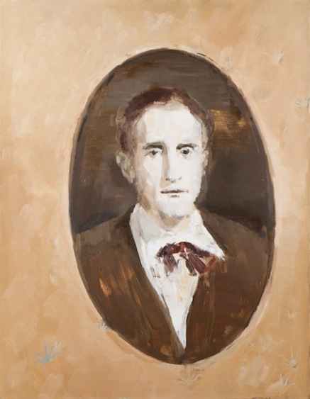 Marcel Duchamp, oil on canvas, 90x70, 2012