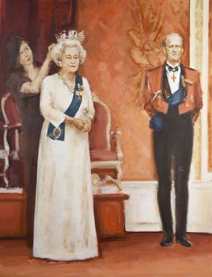 The Queen was made in the museum, oil on canvas, 150x115, 2014
