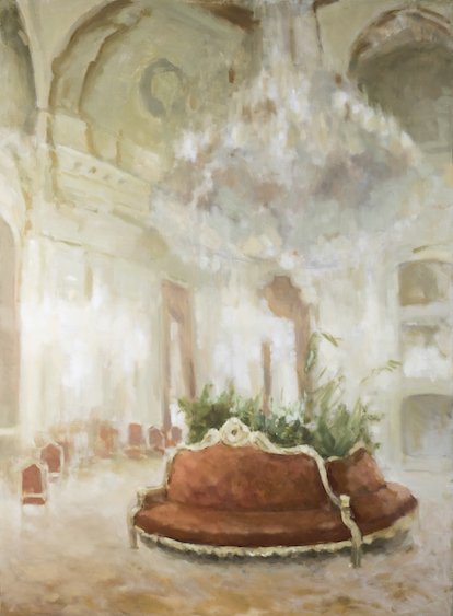 The room in Louvre, oil on canvas, 170x125, 2014