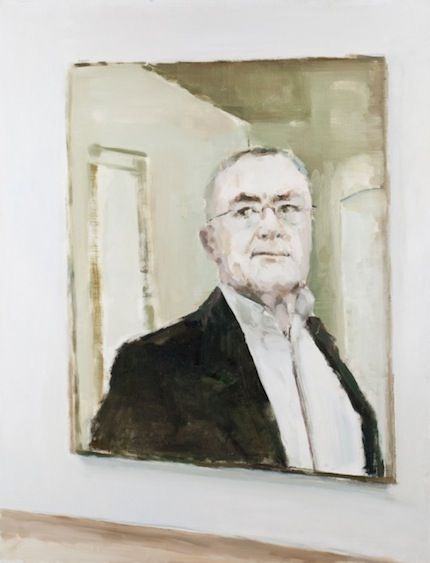 Painted portrait of Gerhard Richter, oil on canvas, 100x77, 2011