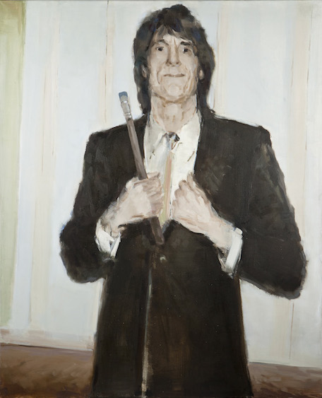 Since 1975 Ronnie Wood continued painting, oil on canvas, 90x110, 2014