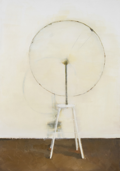 Painted readymade - Marcel Duchamp's 'Bicycle wheel', oil on canvas, 80x56, 2011