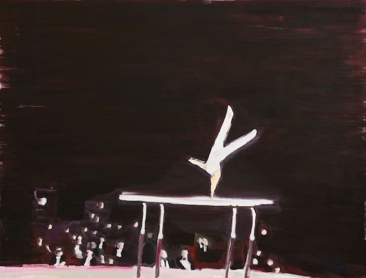 Gymnast's loneliness III, oil on canvas, 152x116, 2013