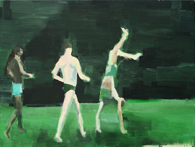 Gymnasts, oil on canvas, 90x80, 2008
