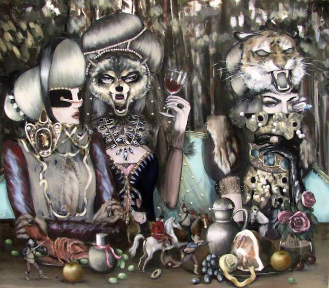 Feast, acrylic on canvas, 140x160, 2014