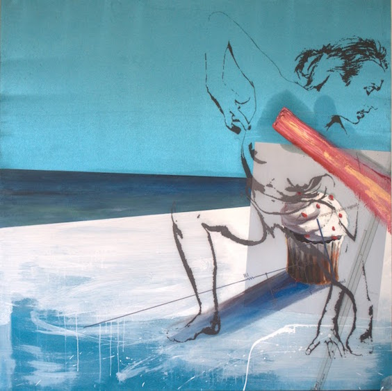 Miracle on the beach, mixed media, 130x130, 2012