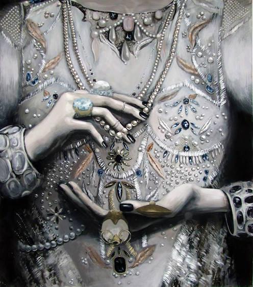 Tantalus gold, acrylic on canvas, 140x120, 2014