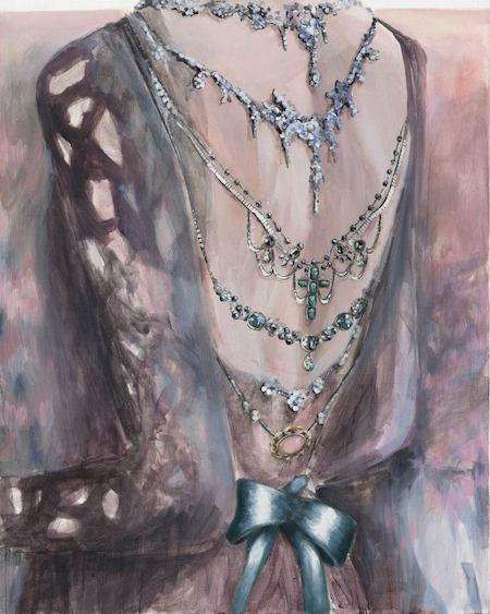 Moonless night at Eloi gardens, acrylic on canvas, 150x130, 2012