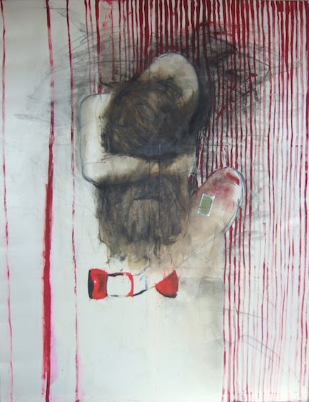Red shoes, mixed media, 165x130, 2009