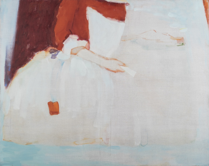 Maid without the racket, oil on canvas, 60x75, 2015