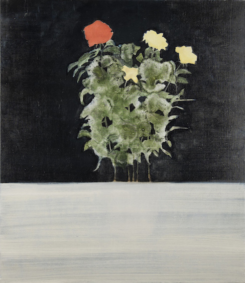 To paint the roses in red, oil on canvas, 75x65, 2015