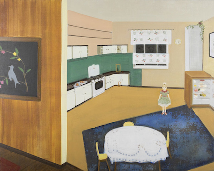 The kitchen. The best friend taught me how to be unfaithful, oil on canvas, 70x80, 2015