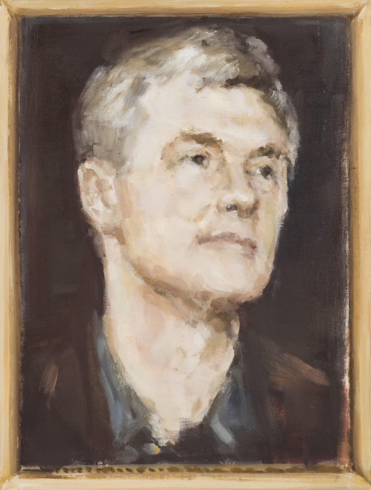 E. Karpaviciute, Portrait study. Dawid Zwirner, oil on canvas, 50x38, 2015
