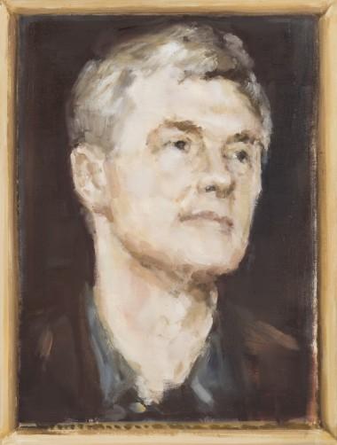 E. Karpaviciute, Portrait study. Dawid Zwirner, oil on canvas, 50x38, 2015