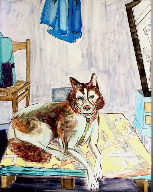 Painting studio, oil on canvas, 140x110, 2017