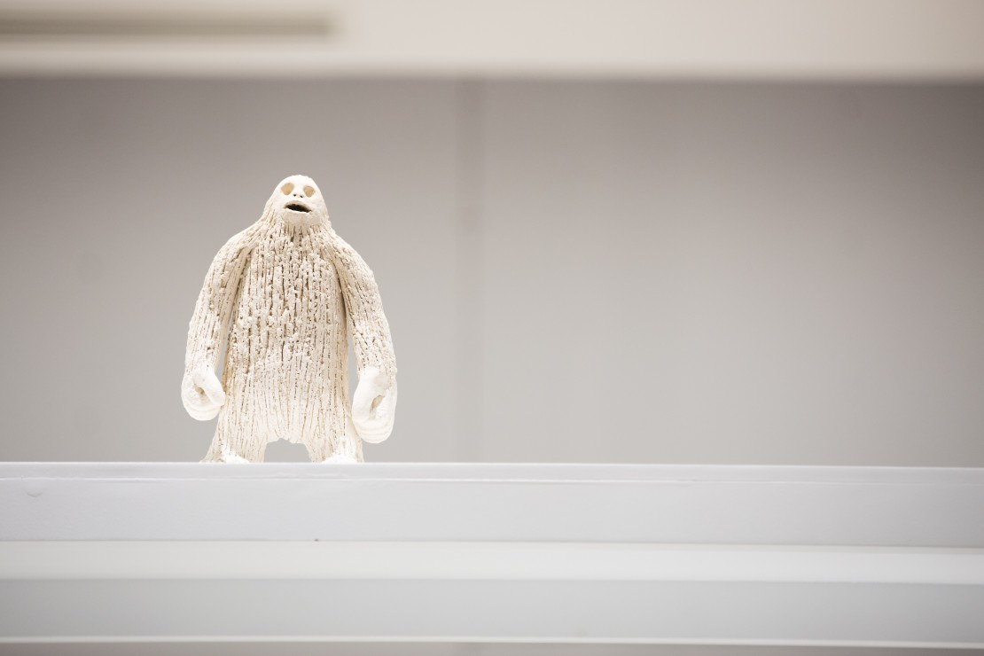 The big white Bigfoot, terracota, 30x15x5, 2018